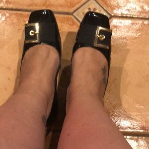 Me too patent leather ballet flats in black size 8